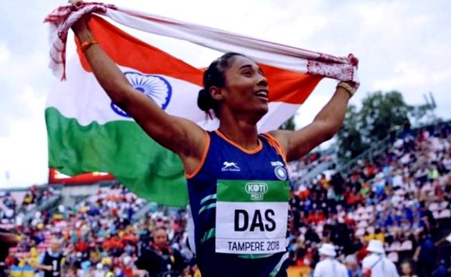 Netizens Hails Hima Das For Winning Four Golds in 15 days - Sakshi