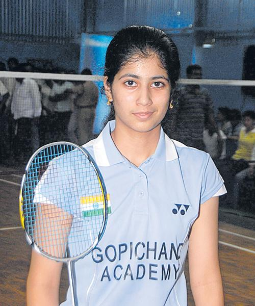 Meghana loses mixed and women's doubles matches - Sakshi