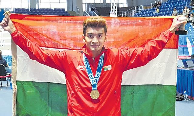 Shiva Thapa becomes India's first gold-medallist in Kazakhstan Presidents Cup - Sakshi