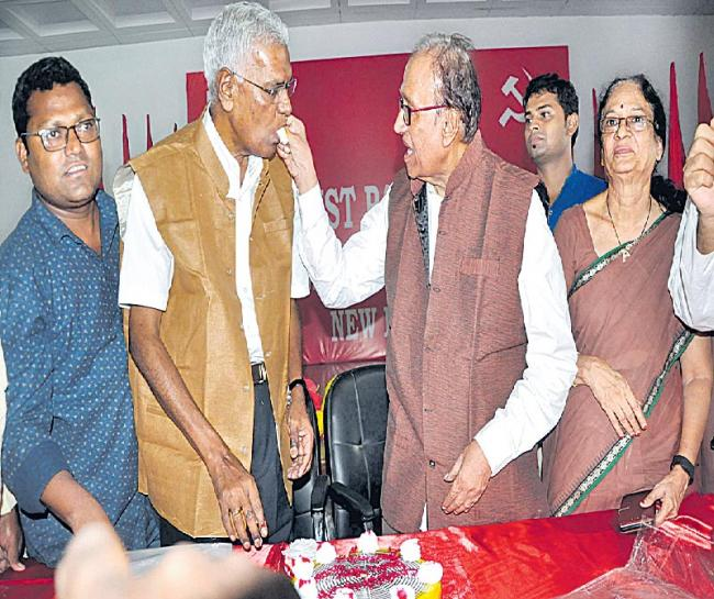 D. Raja takes over as CPI general secretary - Sakshi