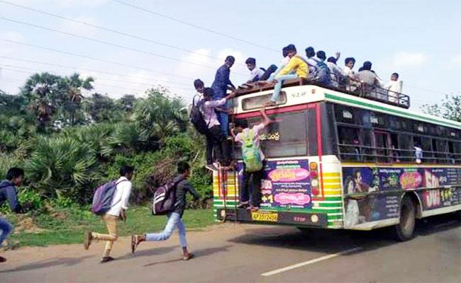 Limited Bus Services For Students In Vizianagaram - Sakshi