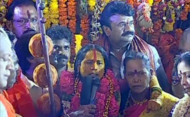 Swarnalatha Bhavishyavani In Ujjaini Bonalu - Sakshi