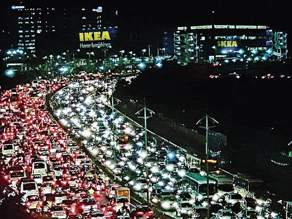 Traffic is one of the biggest problems facing the city - Sakshi