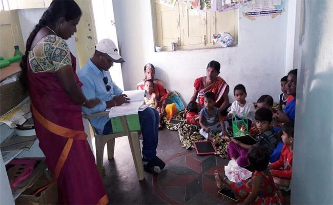 The Collector Ronald Ross, Who is Collecting Information of the Anganwadi Centers with Secret People - Sakshi