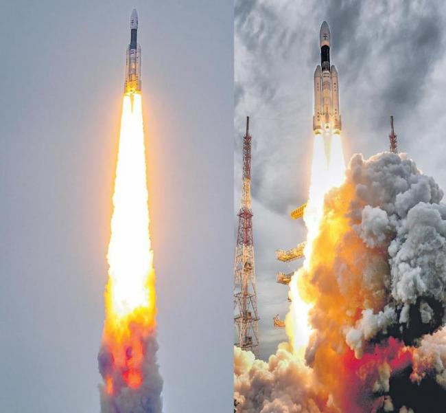 Chandrayaan 2 successfully launched - Sakshi