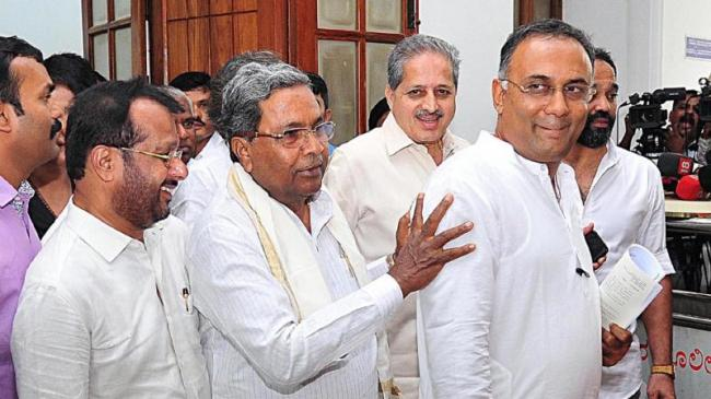 Karnataka Congress Chief Says Situation In The State Is Fit For Anti Defection Law - Sakshi