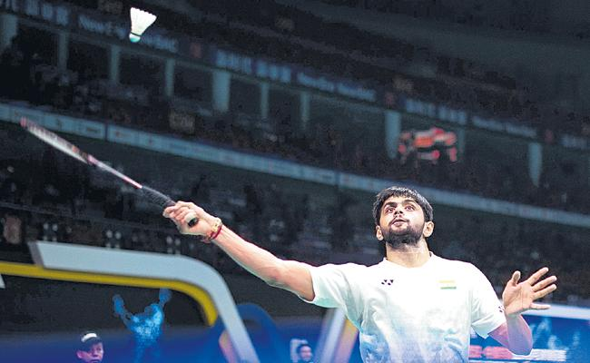 Sai Praneeth Sails into 2nd Round After Beating Kento Nishimoto - Sakshi