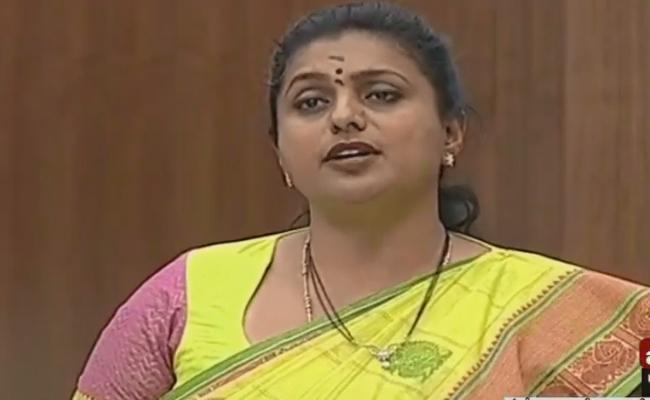 YSRCP MLA RK Roja Fires On Chandrababu Naidu In Assembly - Sakshi