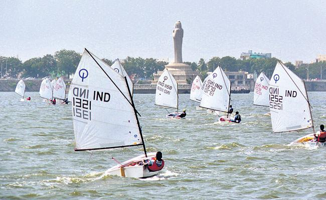 Hyderabad sailors Monsoon Regatta National Championship - Sakshi