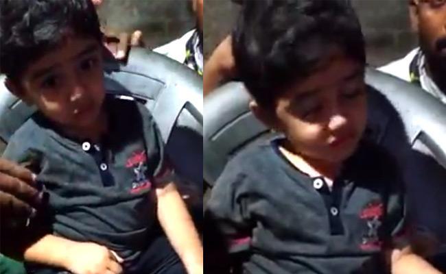 Kidnappers Released 4 Year Old Jasith At Mandapeta In East Godavari - Sakshi