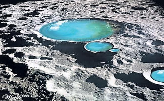 Water Marks on Moon - Sakshi