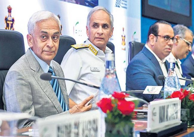 Navy chief Admiral Karambir Singh argues for more funds to build warships - Sakshi