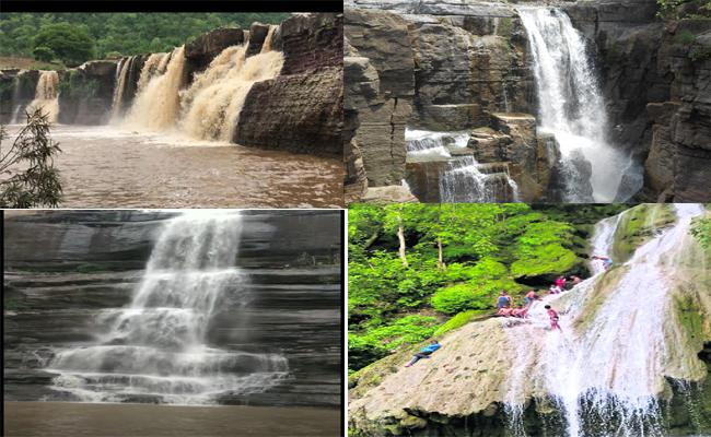 Waterfalls In Adilabad  Are Attracting The Visitors - Sakshi