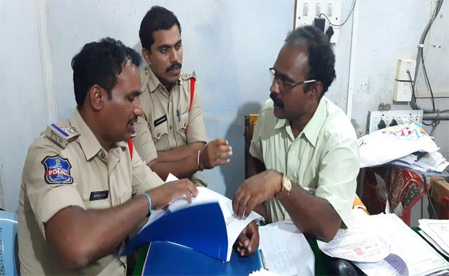 Police Who Remanded People Who Entered Land With False documents in Jadcherla - Sakshi