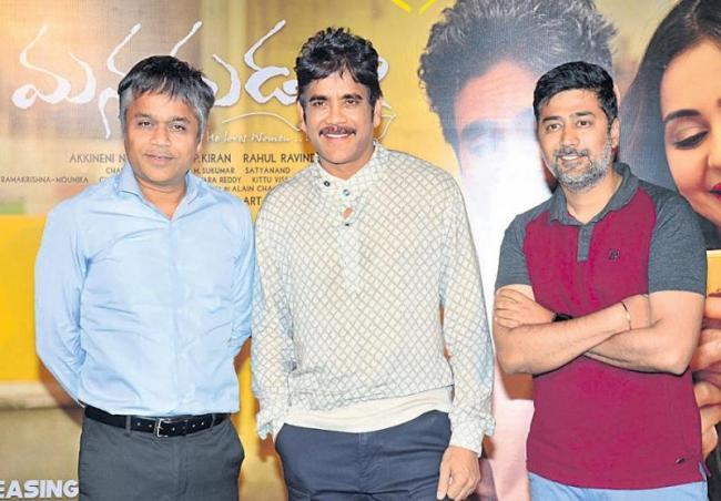Nagarjuna, Rakul Preet Starrer Manmadhudu 2 Trailer launch - Sakshi