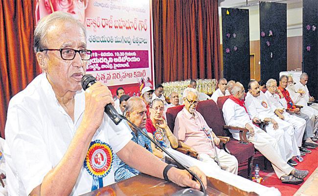 Suravaram Sudhakar Reddy Comments On Constitutional Protection - Sakshi