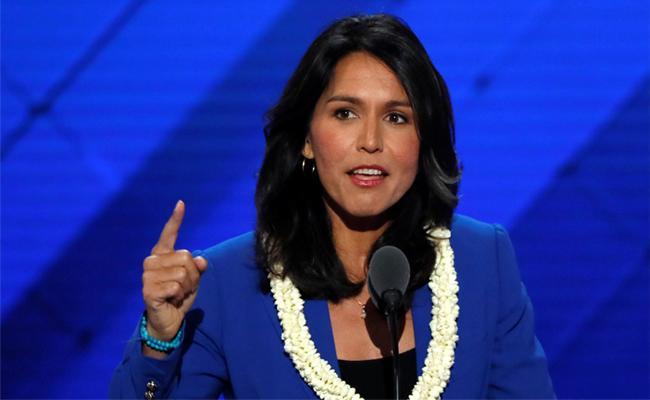 US presidential candidateTulsi Gabbard files 50mn usd lawsuit against Google - Sakshi