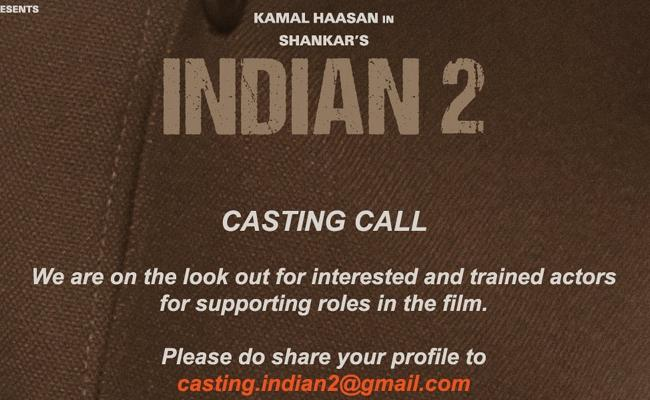 Casting Call For Shankar And Kamal Hassan Indian 2 Movie - Sakshi
