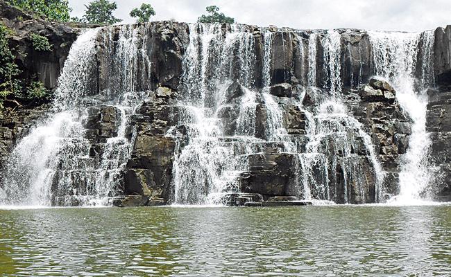 Telangana Niagara Falls in Kumaram Bheem Asifabad district  - Sakshi