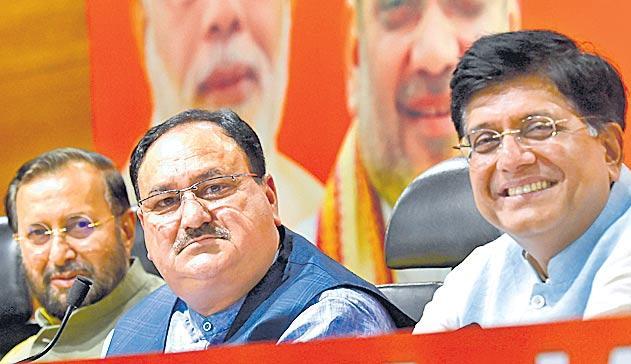 JP Nadda presents Modi government 50-day report card - Sakshi