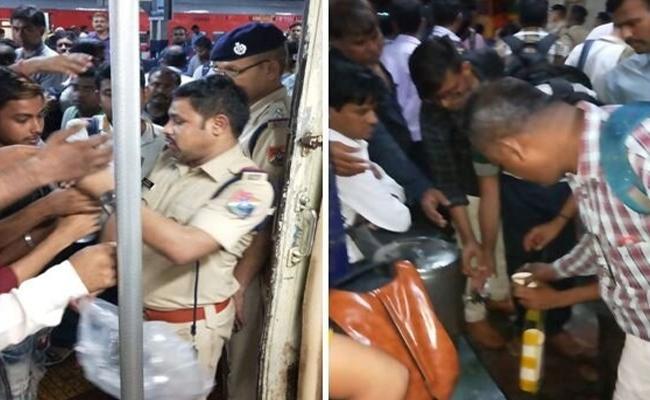 Mumbai Kolhapur Mahalaxmi Express passengers struck - Sakshi
