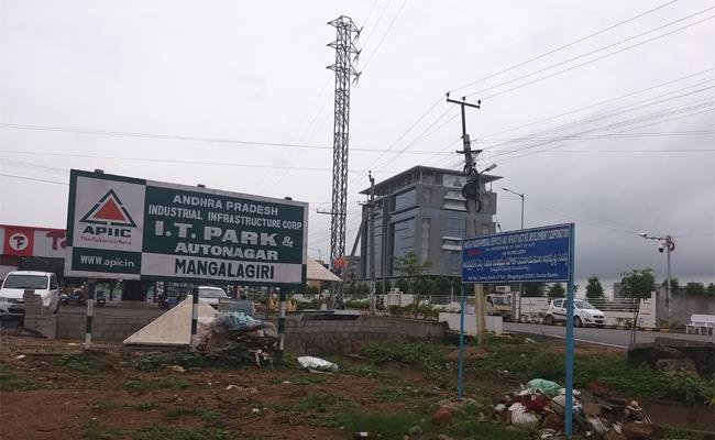 Many Irregularities Taking Place In Mangalagiri Auto Nagar  - Sakshi