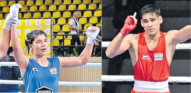 Nikhat Zareen, Hussamuddin reaches finals of Thailand Open International Boxing - Sakshi