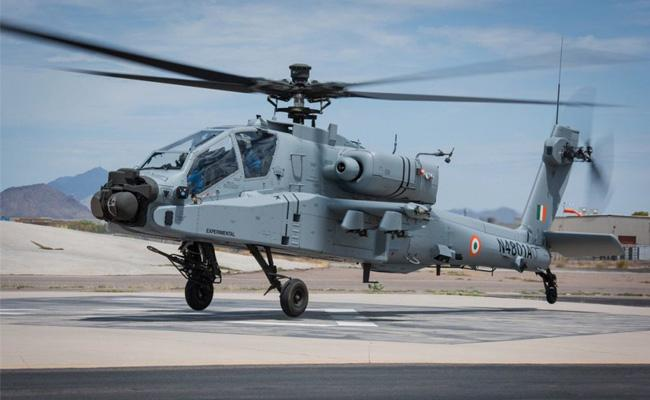 First Indian Air Force Boeing AH 64E Apache Attack Helicopter Makes Maiden Flight - Sakshi