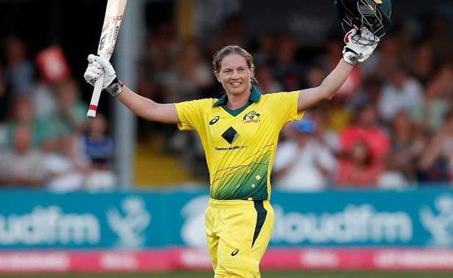 Meg Lanning hits T20 record  Century against England - Sakshi