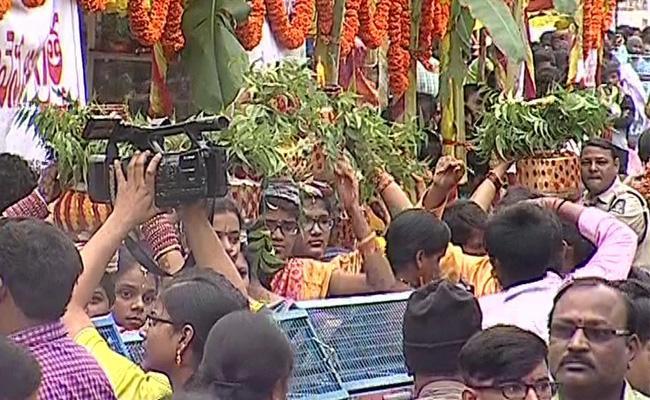 Bonalu Celebrations in Old City - Sakshi