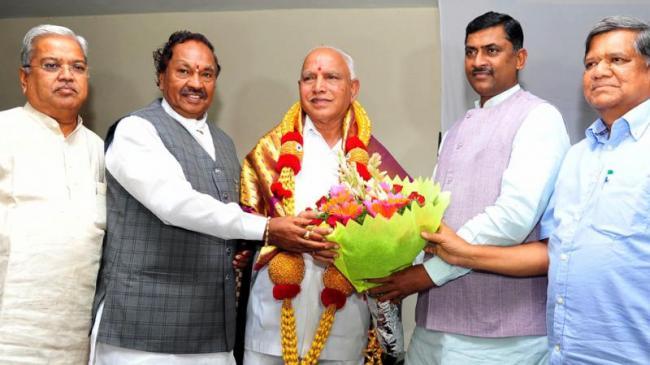 BS Yediyurappa Set To Face Floor Test In Karnataka - Sakshi