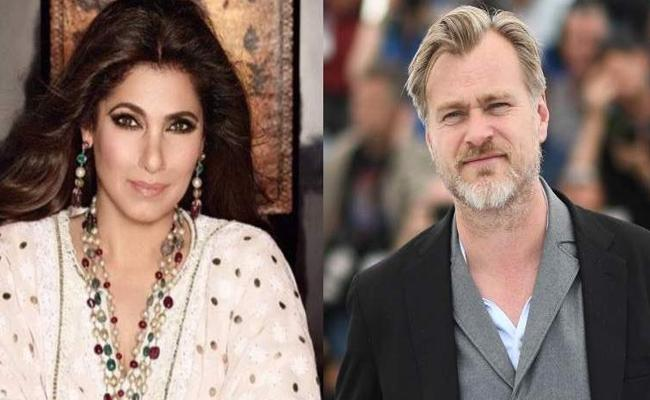 Dimple Kapadia And Christopher Nolan Spotted On Tenet sets  - Sakshi