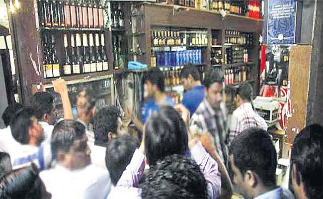 Alcohol Sales Rises in Hyderabad - Sakshi