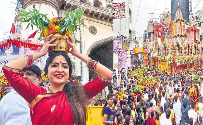 Old City Bonalu Festival Hyderabad - Sakshi