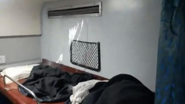 Water gushes from AC duct in Sanghamitra Superfast Express Video Goes Viral - Sakshi