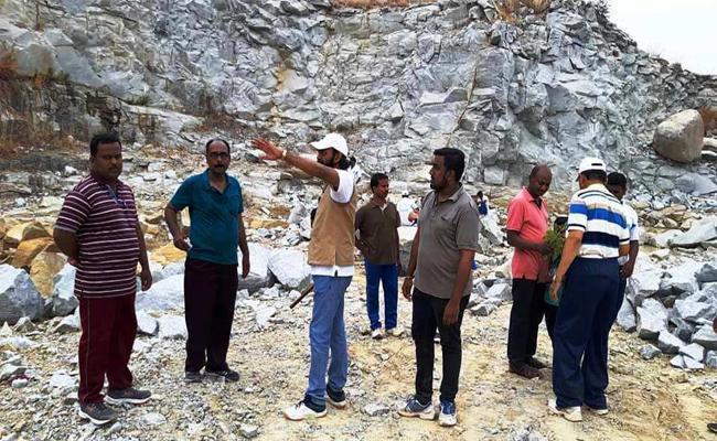 Propaganda That The Tiger Is Turning To Move Granite Deposits - Sakshi