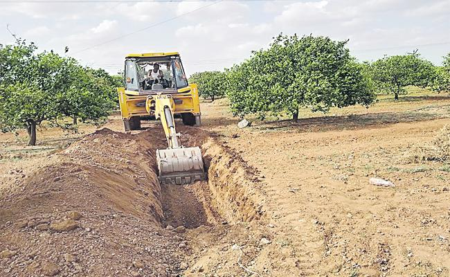 Trenches Good For Gardens And Ground Level Water Increase - Sakshi