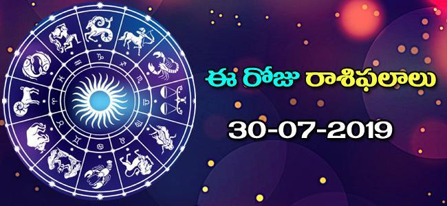 Today Rasi Phalalu in Telugu (30-07-2019) - Sakshi