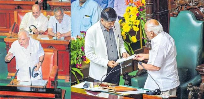 Yediyurappa passes floor test, speaker Ramesh Kumar resigns - Sakshi