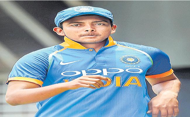 Cricketer Prithvi Shaw Failed Doping Test - Sakshi