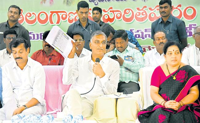 Harish Rao Says, Who Will Protect Plant Saplings, They Will Get 1 Lakh Rupees As Reward In Siddipet - Sakshi