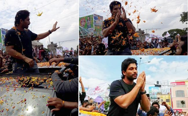 Allu Arjun Reaches Kakinada For AA19 Shoot - Sakshi