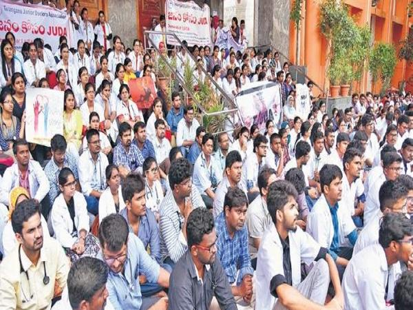 Telangana junior doctors decision against NMC - Sakshi