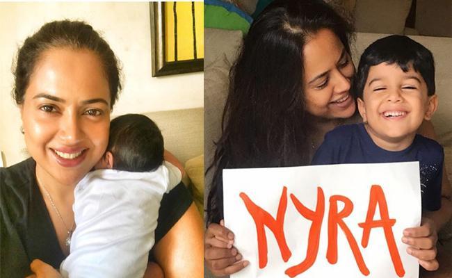 Sameera Reddy Name Their Baby Girl Nyra - Sakshi