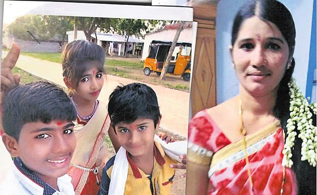 Mother Missing With Her Three CHild in Hyderabad - Sakshi