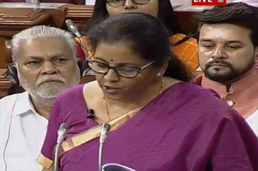 Nirmala Sitharaman Presents 1st Budget Naari  to narayani - Sakshi
