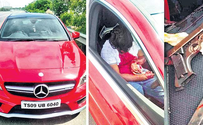 Young Businessman Suicide At ORR With Gun - Sakshi