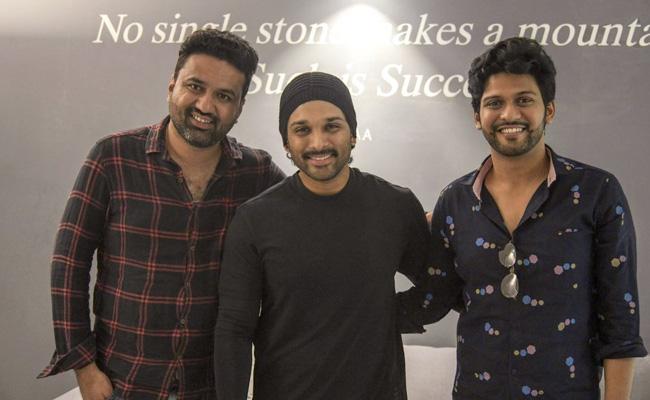 Allu Arjun Praised Agent Sai Srinivasa Athreya Movie - Sakshi