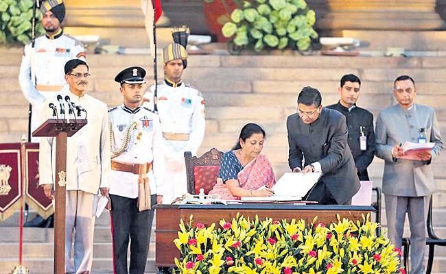 Nation Waiting For First Budget From Nirmala Sitharaman - Sakshi