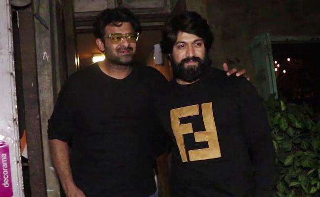 KGF Star Yash Recommends Prabhas - Sakshi